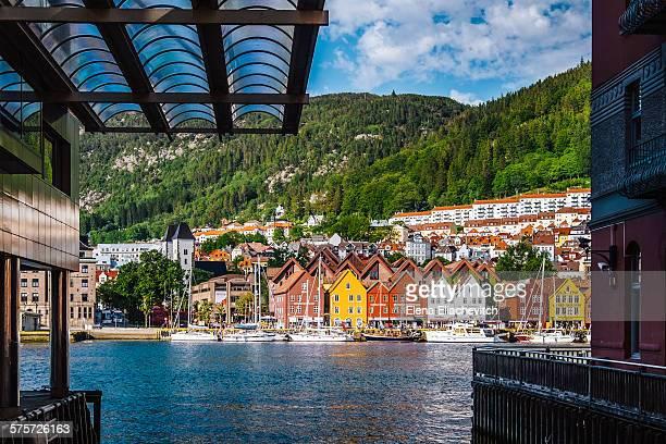 Bergen, houses of Bryggen,Norway