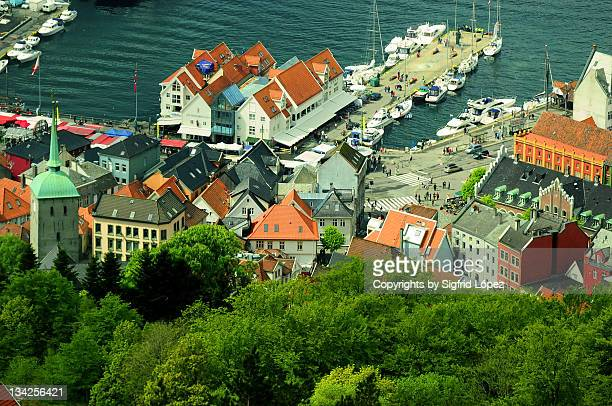 bergen - trading_post stock pictures, royalty-free photos & images