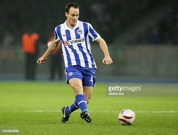 Bergen Steve von Football Defender Hertha BSC Berlin Switzerland in action on the ball