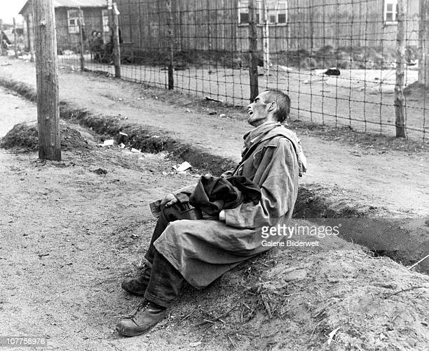 BergenBelsen Concentration Camp Survivors in the camp which has been taken over by the Allied 21st Army Group 15th April 1945 55000 inmates many...