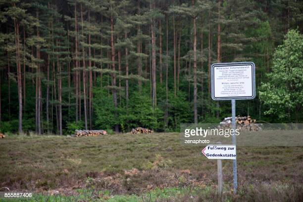 bergen-belsen woodland - concentration camp stock photos and pictures