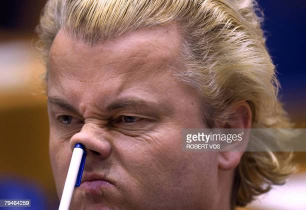 Geert Wilders gives a voice to Dutch unease about immigration File picture of Dutch Geert Wilders leader of the parliamentary party Partij voor de...