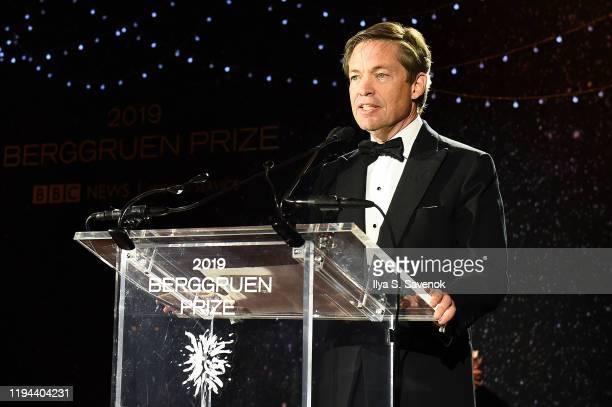 Berggruen Institute Chairman and Founder Nicolas Berggruen speaks onstage during the Fourth Annual Berggruen Prize Gala celebrating 2019 Laureate...