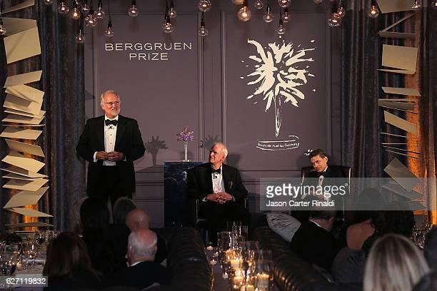Berggruen Institute President Craig Calhoun Philosopher Charles Taylor and Host of CNN Global Public Square Fareed Zakaria attend The Berggruen Prize...