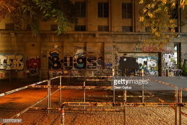 Berghain club stands closed at night during the coronavirus pandemic on September 30, 2020 in Berlin, Germany. Clubs in Berlin are still closed for...
