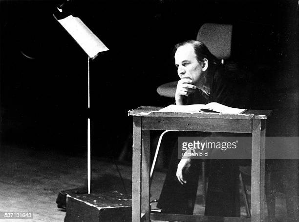 Bergman Ingmar Writer Director Sweden during the shooting of the film 'A Dream Play' by August Strindberg in Munich 1977 Photographer JeanMarie...