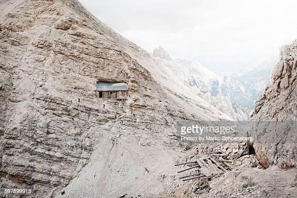 Bergsteiger in den Dolomiten