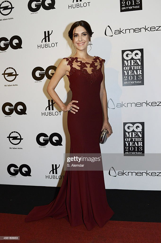 Berguzar Korel attends the GQ Turkey Men of the Year awards at Four Seasons Bosphorus Hotel on December 11, 2013 in Istanbul, Turkey.