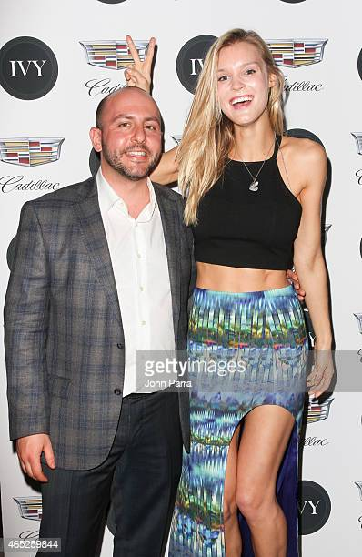 Beri Meric and Model Joy Corrigan attend the Miami Innovator Dinner Presented By Cadillac And IVY at The Betsy Hotel on March 4, 2015 in Miami,...