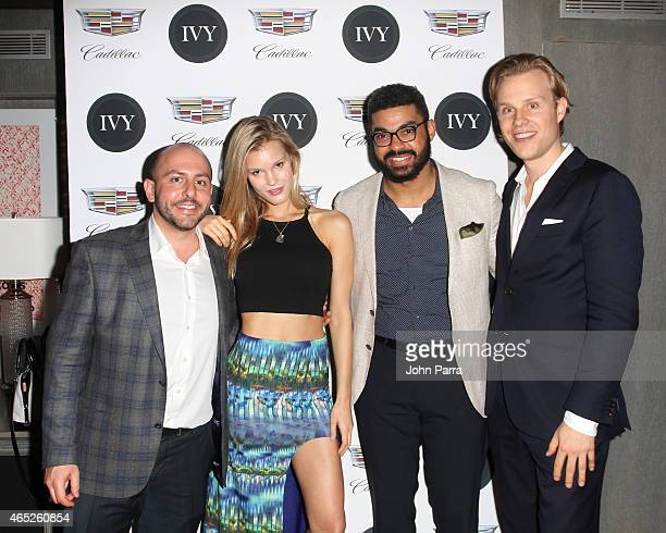 Beri Meric, Joy Corrigan ,Eneuri Acosta and Philipp Triebel attend the Miami Innovator Dinner Presented By Cadillac And IVY at The Betsy Hotel on...