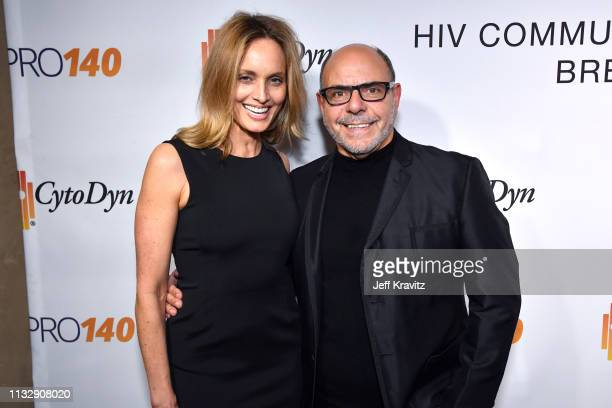 Beri Smithers and Michael Flutie attend CytoDyn's Pro 140 Awareness Event for HIV and Cancer Prevention at The Roosevelt Hotel in Hollywood on...