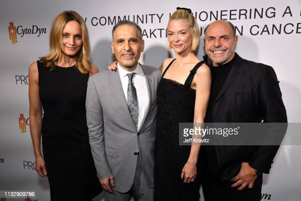 Beri Smithers Dr Nader Pourhassan Jaime King and Michael Flutie attend CytoDyn's Pro 140 Awareness Event for HIV and Cancer Prevention at The...