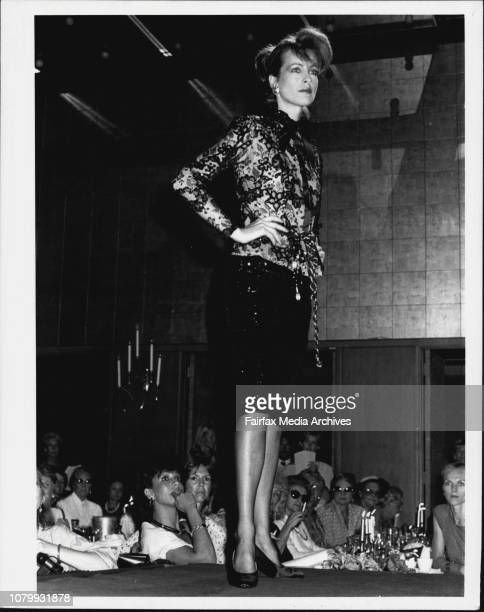 Beril Jents fashion parade at the Wentworth HotelL to R Liz BreghSpeirs and her sister parsons watch the parade February 27 1984
