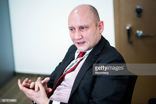 Berislav Gaso chief operating officer of the upstream division at MOL Hungarian Oil And Gas Plc speaks during an interview at the company...
