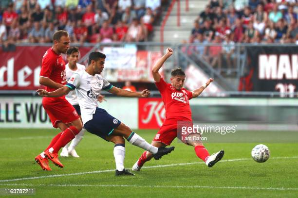 Berkan Firat of Schalke scores his sides first goal during the pre-season friendly match between FC Twente and FC Schalke 04 at De Grolsch Veste...