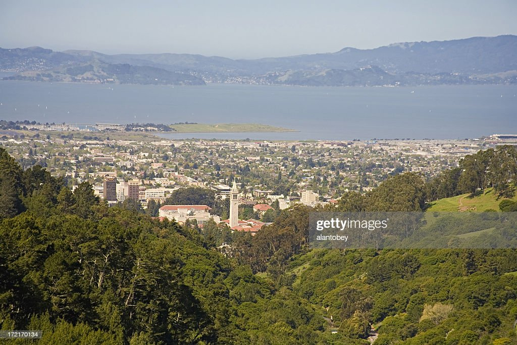 Berkeley CA: View from East Bay Hills : Stock Photo