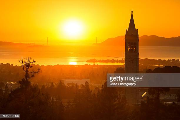 Berkeley Campanile and Sunset