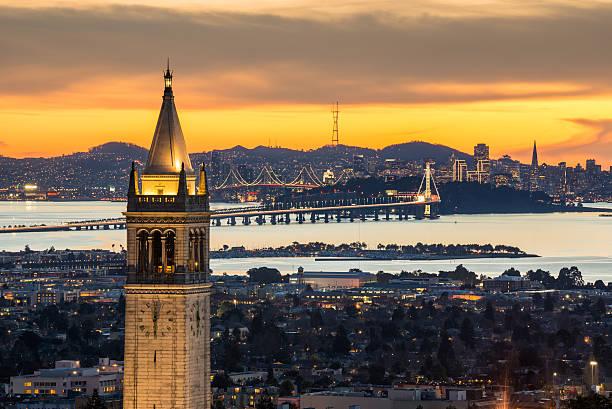 Berkeley Campanile With Bay Bridge And San Francisco Skyline Wall Art