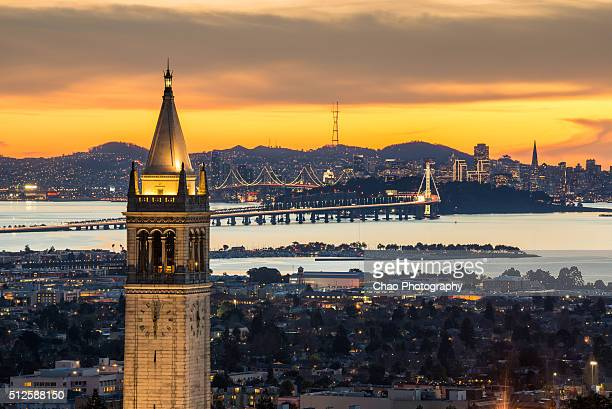 Berkeley Campanile with Bay Bridge and San Francisco Skyline
