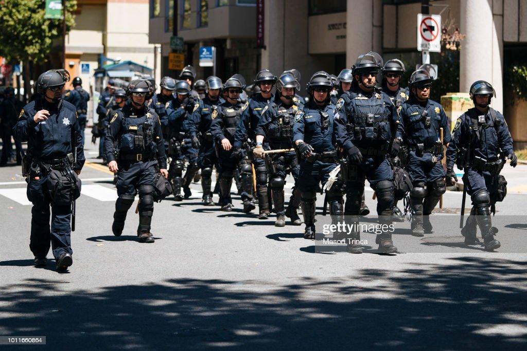 Anti-Marxism Rally In Berkeley Draws Counterprotests : News Photo