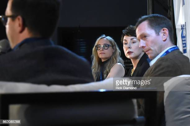 Berkeley Reinhold Pam Matthews and Tim Epstein speak onstage at the Terms Conditions Power Panel during the IEBA 2017 Conference on October 16 2017...