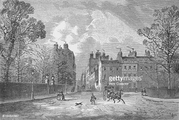 Berkeley Square' 1890 From Picturesque London by Percy Fitzgerald [Ward Downey London 1890] Artist Unknown