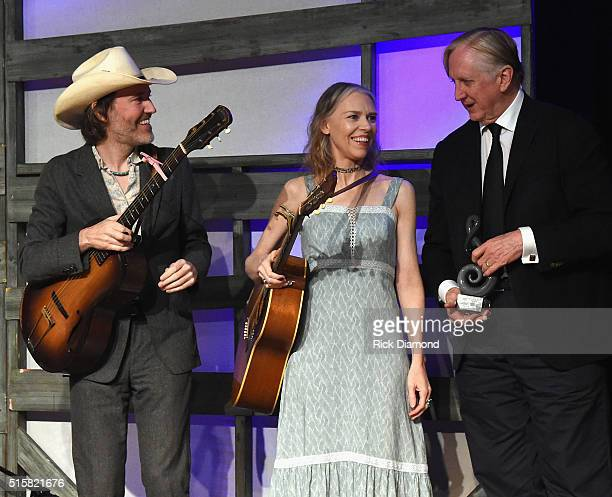 Berklee Presents American Master Awards To Dave Rawlins Gillian Welch and T Bone Burnett on a special Tuesday night edition of Music City Roots at...