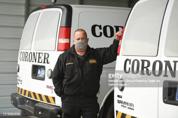 Berks County Chief Deputy Coroner Jonn Hollenbach at the Coroner's offices in Bern Township on Thursday, April 16, 2020. Hollenbach, like other local...