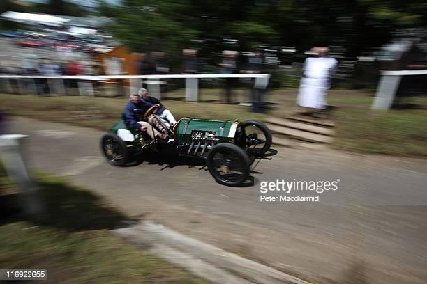 Berliet/Curtiss Racer speeds up the Test Hill at The Brooklands Double Twelve Motorsport Festival on June 18 2011 in Weybridge England Two hundred...
