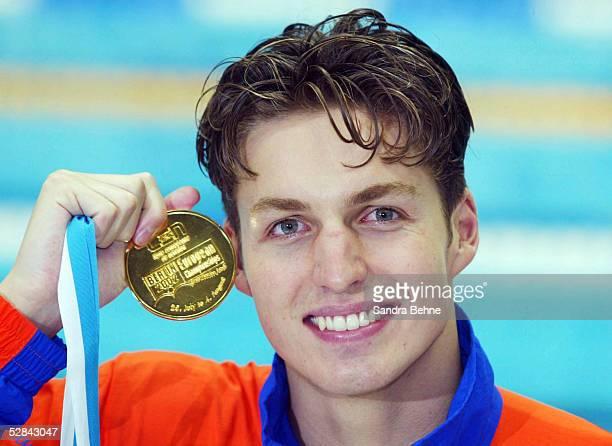 Berlin; 100m/FREISTIL/MAENNER; Pieter VAN DEN HOOGENBAND/NED mit GOLD MEDAILLE