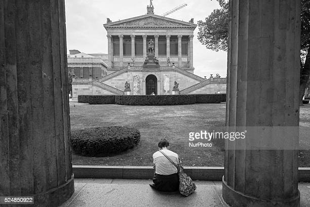 Berlin, 24th August 2015. The Museum Island Berlin on the Spree the artistic ensemble consists of five museums Altes Museum, Neues Museum, Alte...
