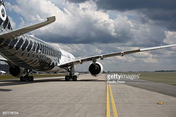 SCHOENEFELD BERLIN GERMANY Berlin Air Show presents new Airbus A350X The ILA Berlin Air Show is one of Europes most important trade fairs for the...