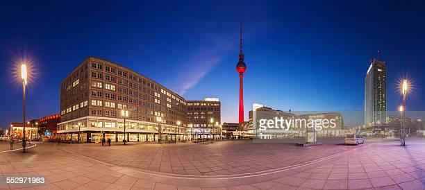 Berlin Alexanderplatz Skyline Panorama