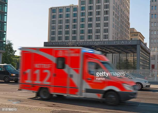 Berlin Krankenwagen Geschwindigkeiten auf einem Notfall
