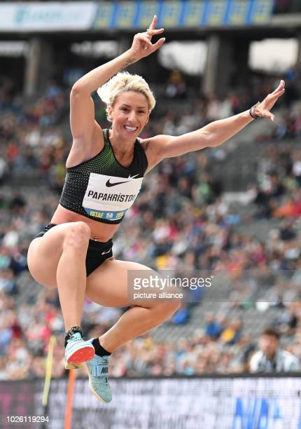 Athletics Meeting ISTAF in the Olympic Stadium Paraskevi Papachristou from Greece in action during the women's triple jump Photo Soeren Stache/dpa