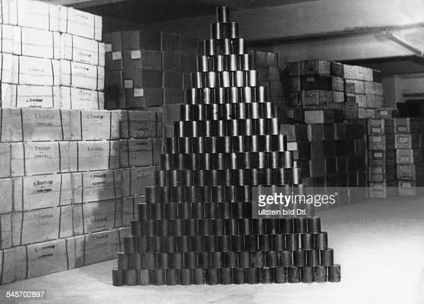 Berlin Blockade Canned meat in a warehouse in Coburg