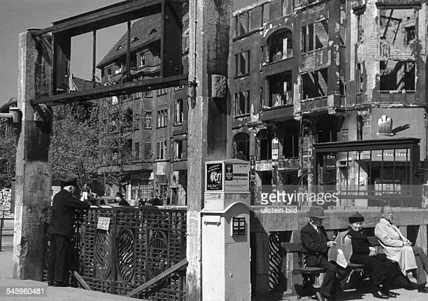 Berlin Blockade closed subway station. No subways running any more due to a power cut-off