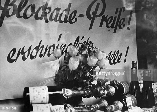 Berlin Blockade in a shop window: blockade prices, cheap for all - photograph: Eschen Fritz