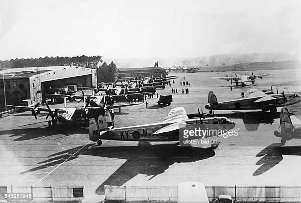Berlin Blockade Planes of the the type Avro 'York' at Gatow Airport