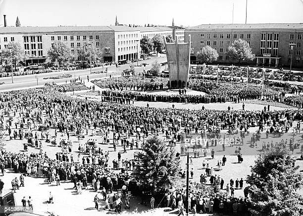 Berlin Blockade Rally at the airlift memorial in Berin-Tempelhof - without date