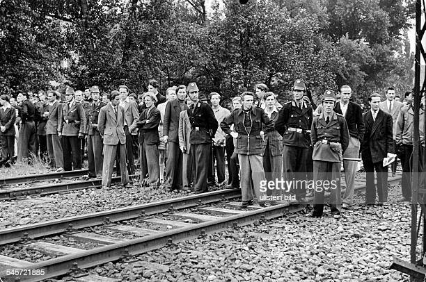 Berlin Blockade Under the leadership of the 'independent union opposition' employees of the 'German Reich Railway' strike for payment of wages in...