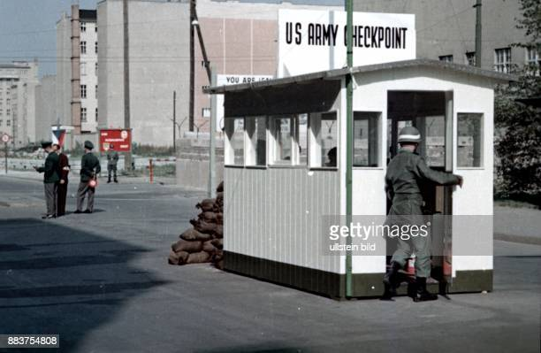 Berlin border crossing point Checkpoint Charlie