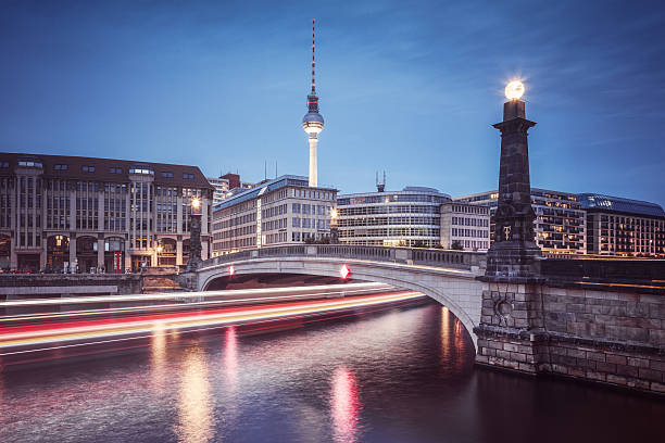 Berlin, Bridge Over The Spree River With TV-Tower Wall Art
