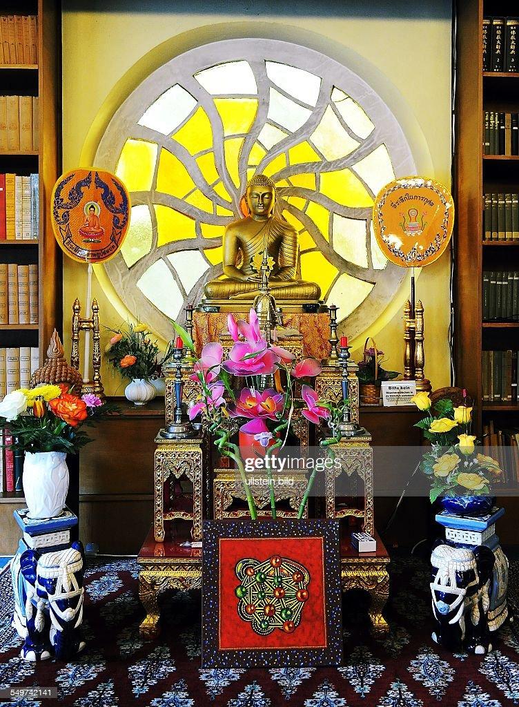 Berlin, Buddhistische Tempelanlage. Meditationsraum