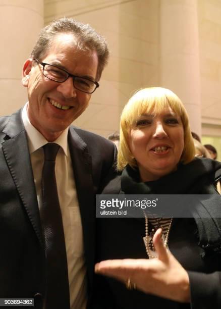 BMZ Berlin Bundesentwicklungshilfeminister Gerd Mueller empfaengt Claudia Roth
