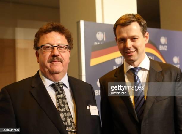 BMZ Berlin Bundesentwicklungshilfeminister Gerd Mueller empfaengt mit Sts Thomas Silberhorn und Staatssekretaer HansJoachim Fuchtel das diplomatische...