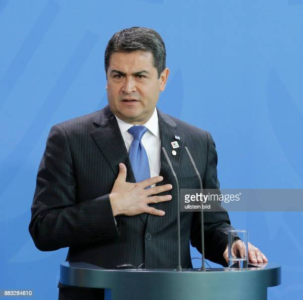 Berlin, Bundeskanzleramt, Empfang des Präsidenten der Republik Honduras, Juan Orlando Hernández, durch Bundeskanzlerin Angela Merkel,...