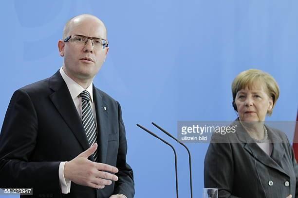 Berlin, Bundeskanzleramt, Empfang tschechischer Ministerpräsident Bohuslav Sobotka durch Bundeskanzlerin Angela Merkel, Foto: Bohuslav Sobotka,...