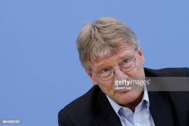 Berlin Bundespressekonferenz Thema Auswertung des Landtagswahljahres 2016 Foto Jörg Meuthen Bundesvorsitzender der AfD