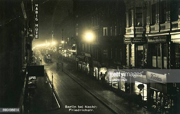 Berlin by night 1930s Street view Friedrichstra§e Berlin Germany